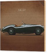Jaguar Xk120 1949 Wood Print by Mark Rogan