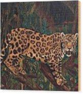 Jaguar's Domain Wood Print