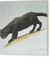 Jaguarundi Wood Print