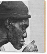 Jah, Rastafari Wood Print