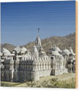 Jain Temple Of Ranakpur Wood Print