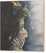 Jake And The Ancestors-pet Portrait Wood Print