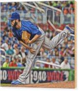 Jake Arrieta Chicago Cubs Pitcher Wood Print