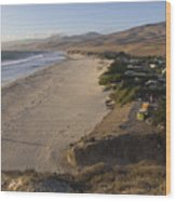 Jalama Campground And Beach. Pacific Wood Print by Rich Reid