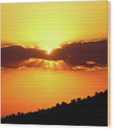Jalisco Sunset Wood Print
