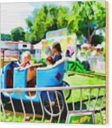 Jalopy Junction 2 Wood Print