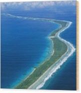 Jaluit Atoll And Lagoon Wood Print