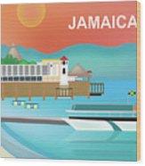 Jamaica Horizontal Scene Wood Print