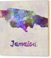 Jamaica In Watercolor Wood Print
