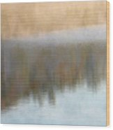 Deep Mist And Reflections On Jamaica Pond Wood Print