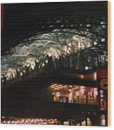Jamaica Station In Lights Wood Print