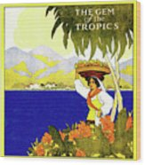 Jamaica, The Gem Of Tropics Wood Print