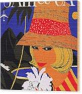 Jamaica, Woman With Orange Hat Wood Print