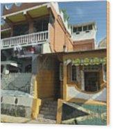 Jamaican Apartments Wood Print