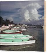 Jamaican Fishing Boats Wood Print