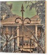 Jamaican Gate Wood Print by Jane Linders