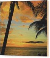 Jamaican Night Wood Print by Kamil Swiatek