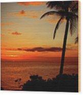 Jamaican Sunset Wood Print by Kamil Swiatek