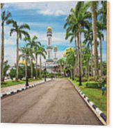 Jame'asr Hassanil Bolkiah Mosque In Brunei Wood Print