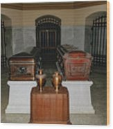 James A. Garfield Coffin Wood Print