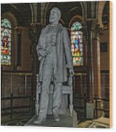 James A. Garfield Statue Wood Print