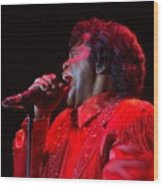 James Brown Wood Print