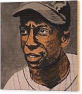 James Cool Papa Bell Wood Print by Ralph LeCompte