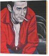 James Dean - Picture In A Picture Show Wood Print by Eric Dee