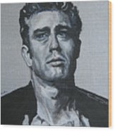James Dean One Wood Print
