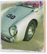 James Dean Porsche Spyder 550 Wood Print