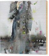 James Dean - Watercolor Portrait.3 Wood Print