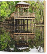 James E Grey Fishing Pier Wood Print