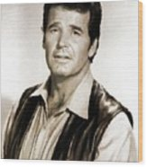 James Garner By Mb Wood Print