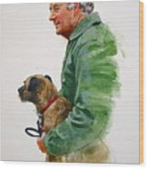 James Herriot And Bodie Wood Print