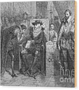 James I Appoints Bacon Lord Chancellor Wood Print