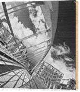 James Joyce Bridge Bw Wood Print