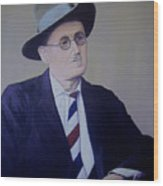 James Joyce Wood Print