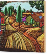 James Lesesne Wells' Farmlands Wood Print
