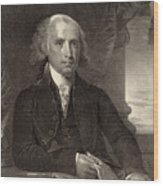 James Madison - Fourth President Of The United States Of America Wood Print by International  Images