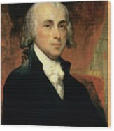 James Madison Wood Print by American School