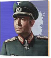 James Mason As Erwin Rommel Publicity Photo The Desert Fox 1951 Color Added 2016 Wood Print