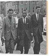 James Meridith And Ole Miss Integration 1962 Wood Print