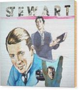 James Stewart Wood Print