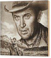 James Stewart The Far Country Wood Print