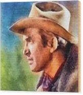 James Stewart, Vintage Hollywood Legend Wood Print
