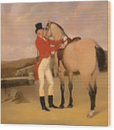 James Taylor Wray Of The Bedale Hunt With His Dun Hunter Wood Print