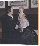 James Wyatt Jr And Her Daughter Sarah Wood Print