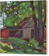 James's Barn Wood Print