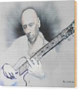 Jamming On Jazz Wood Print