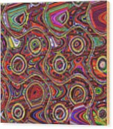 Janca Abstract Panel #097e10 Wood Print